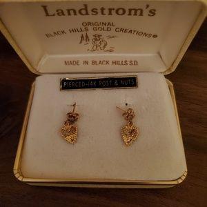14K Black Hills Gold earrings